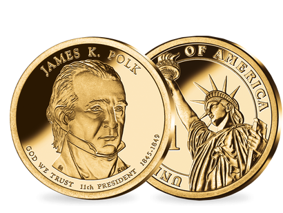 11. US-Präsidenten Dollar 'James Knox Polk'
