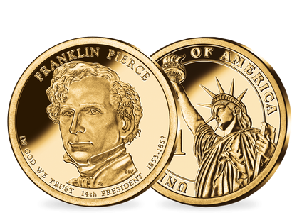 14. US-Präsidenten Dollar 'Franklin Pierce'