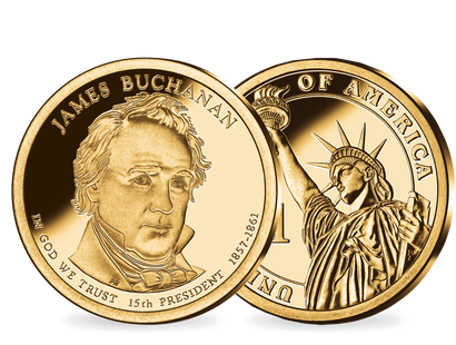 15. US-Präsidenten Dollar 'James Buchanan'