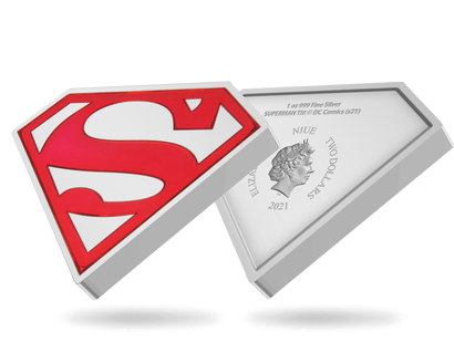 "1-Unzen-Silbermünze ""SUPERMAN™ – Shield"""