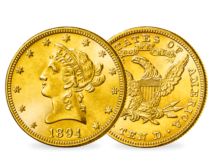 "Der legendäre Gold Dollar Liberty"" − USA 10 Dollar 1866-1907"""