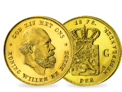 Willem III. letzten 10 Gulden − Holland 10 Gulden Gold 1875-87