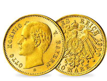 Bayerns letzte 10-Mark-Goldmünze − Otto, 10 Mark 1900-1912