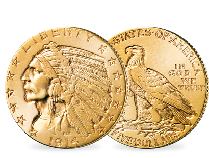 "10 Dollar Gold Indianerhäuptling"" − USA 10 Dollar 1908-1929"""