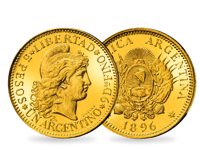 Argentiniens erste 5-Pesos in Gold − 5 Pesos 1881-1896 'Liberty Head'