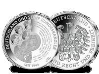 Deutsche Kanzler auf 3-Unzen-Silber-Gedenkprägungen