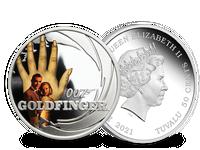Silbermünze James Bond