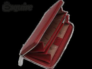 Damenlangbörse mit Reißverschluss   Esquire   DEER   rot