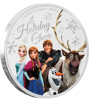 Silbermünze ''Disney's Season Greetings - Frozen'' mit brillanter Farbveredelung