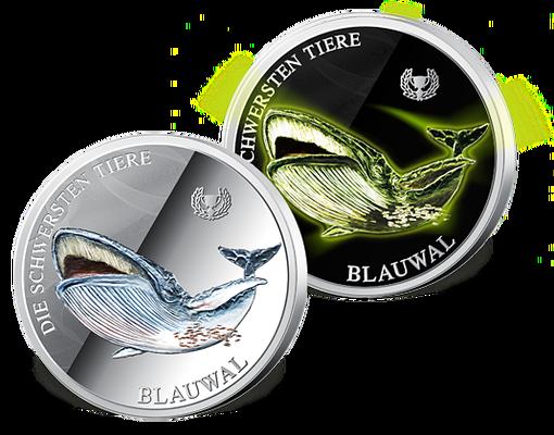 3€Münze (Rekorde der Tiere mit Leucht Effek)