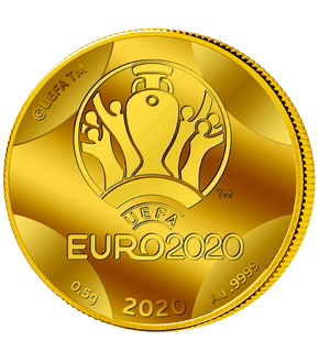 Monnaie officielle en or le plus pur au monde « Championnat d'Europe de Football UEFA EURO 2020™ »