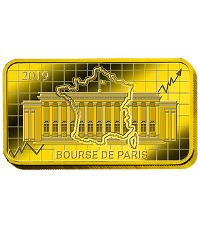 Lingot en or pur - Bourse de Paris