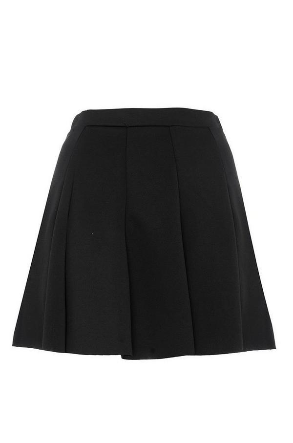 Black Panel Skater Skirt