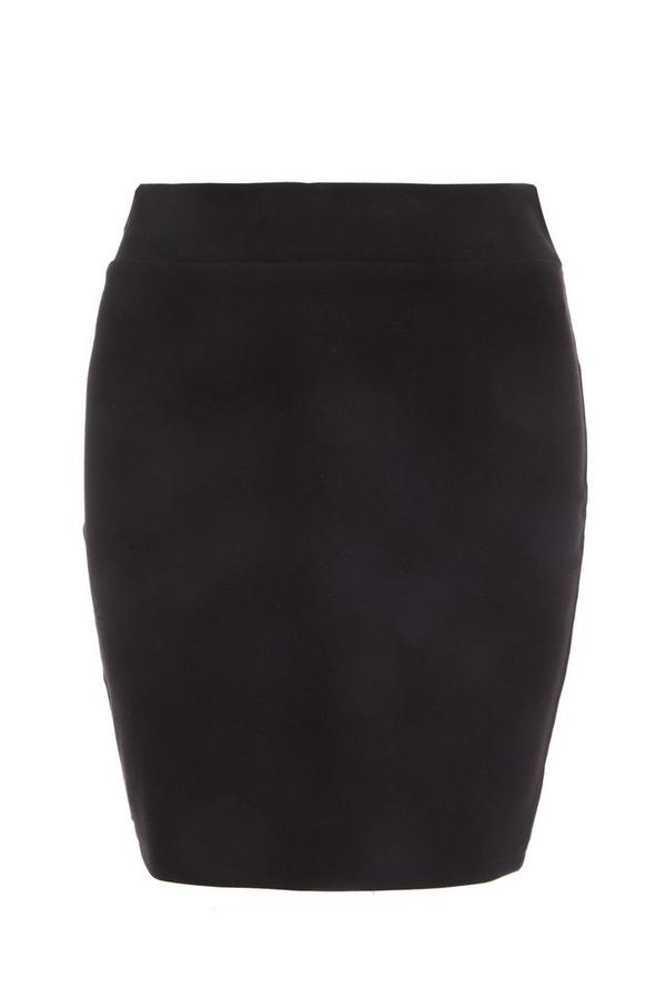 Black Stretch Bodycon Skirt