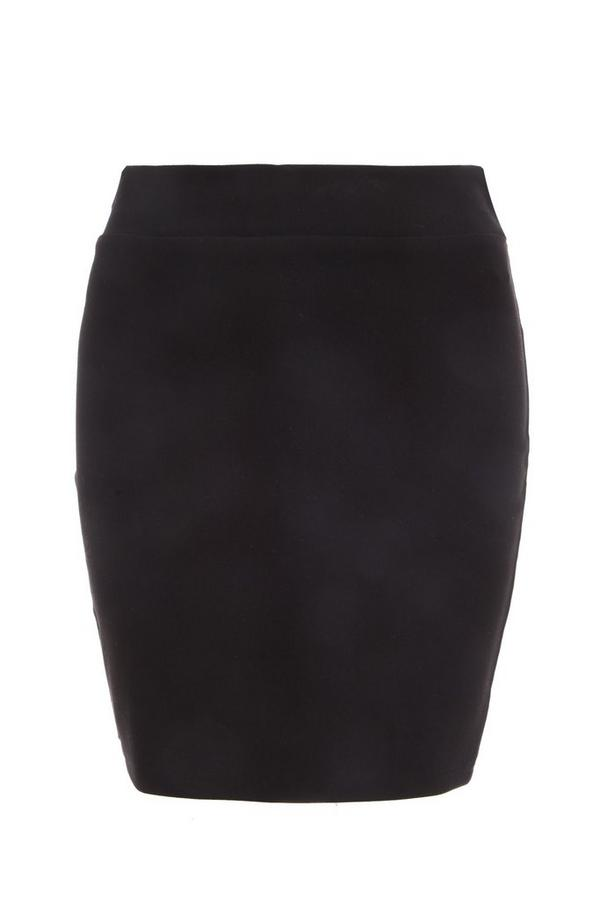 Black Stretch Bodycon Skirt