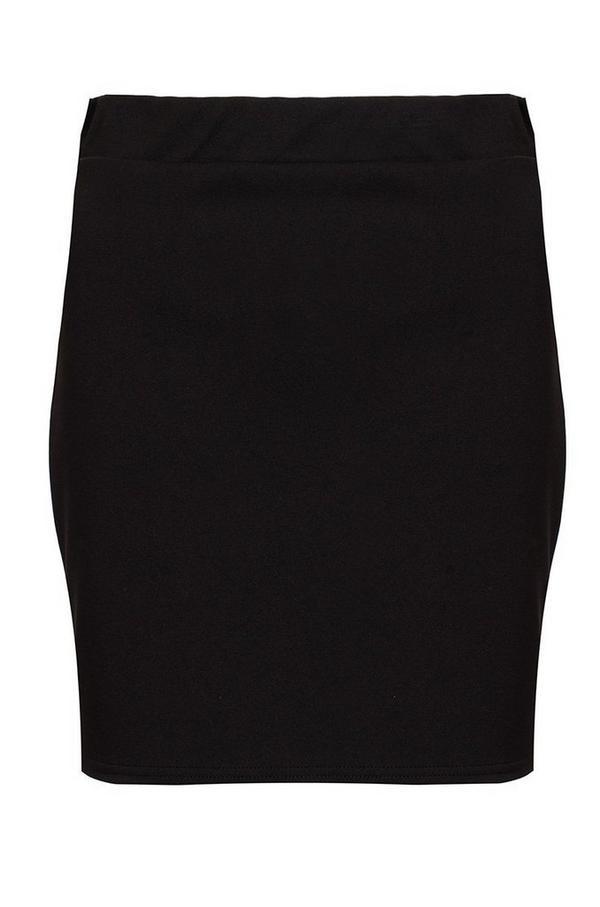 Black Stretch Waist Bodycon Skirt
