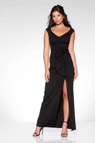 Black Bow Detail Maxi Dress