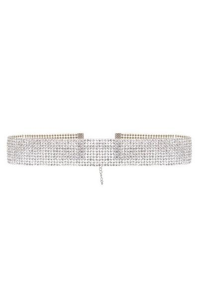 Silver Diamante Resin Choker