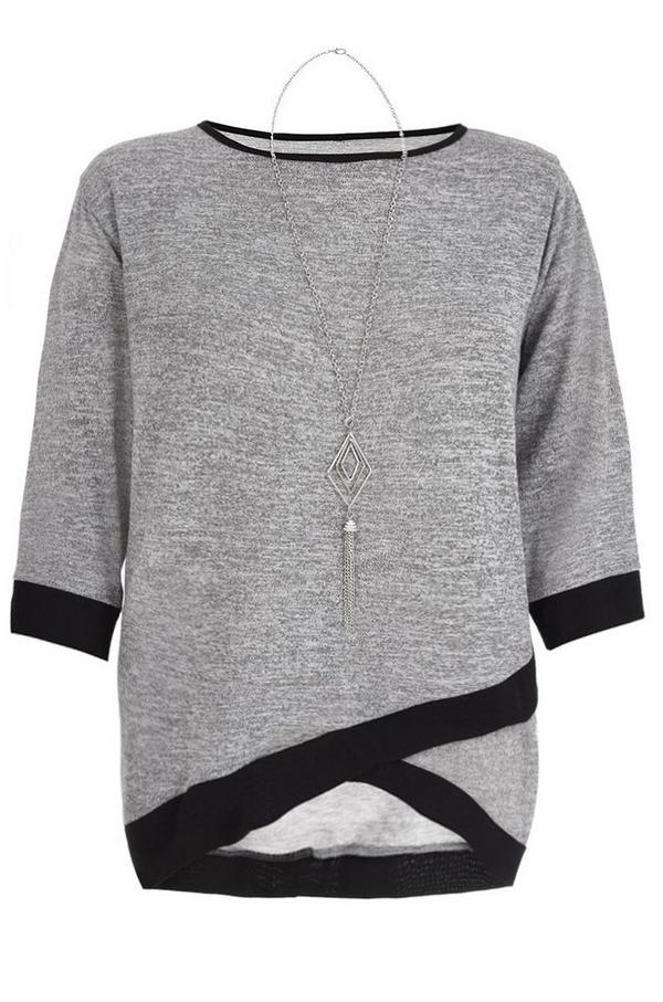 Curve Grey And Black Cross Over Top