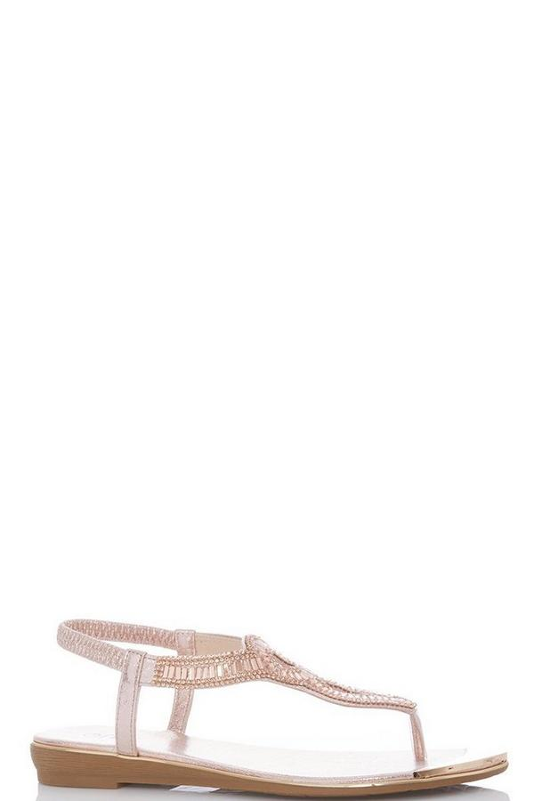Rose Gold Metallic Swirl Sandals