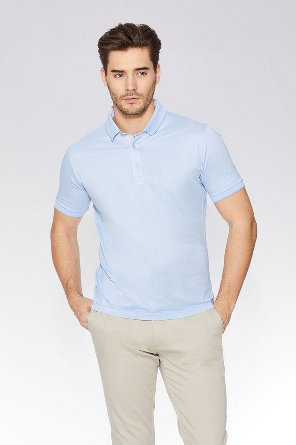 Light Blue Slim Fit Polo Shirt