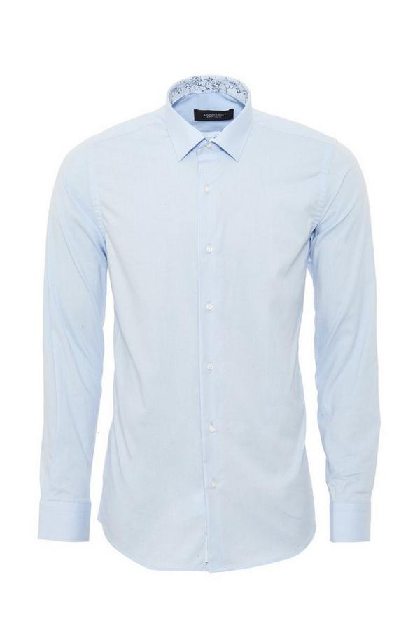 Sky Blue Formal Long Sleeve Shirt