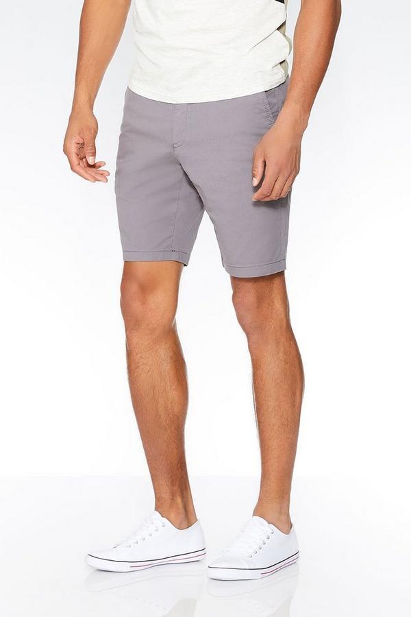 Grey Stretch Shorts