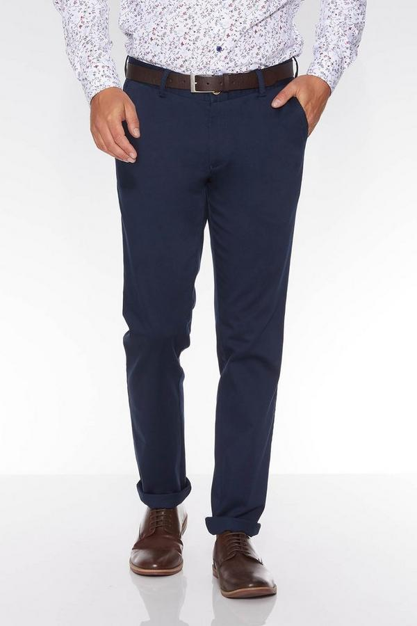 Navy Stretch Slim Fit Chinos