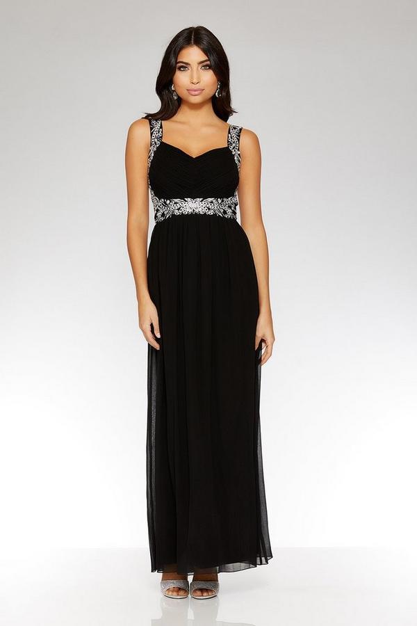 Black Sweetheart Neck Maxi Dress