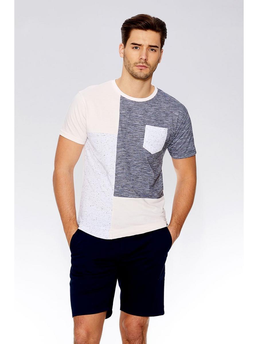 Pink & Grey Light Knit Slim Fit T-Shirt