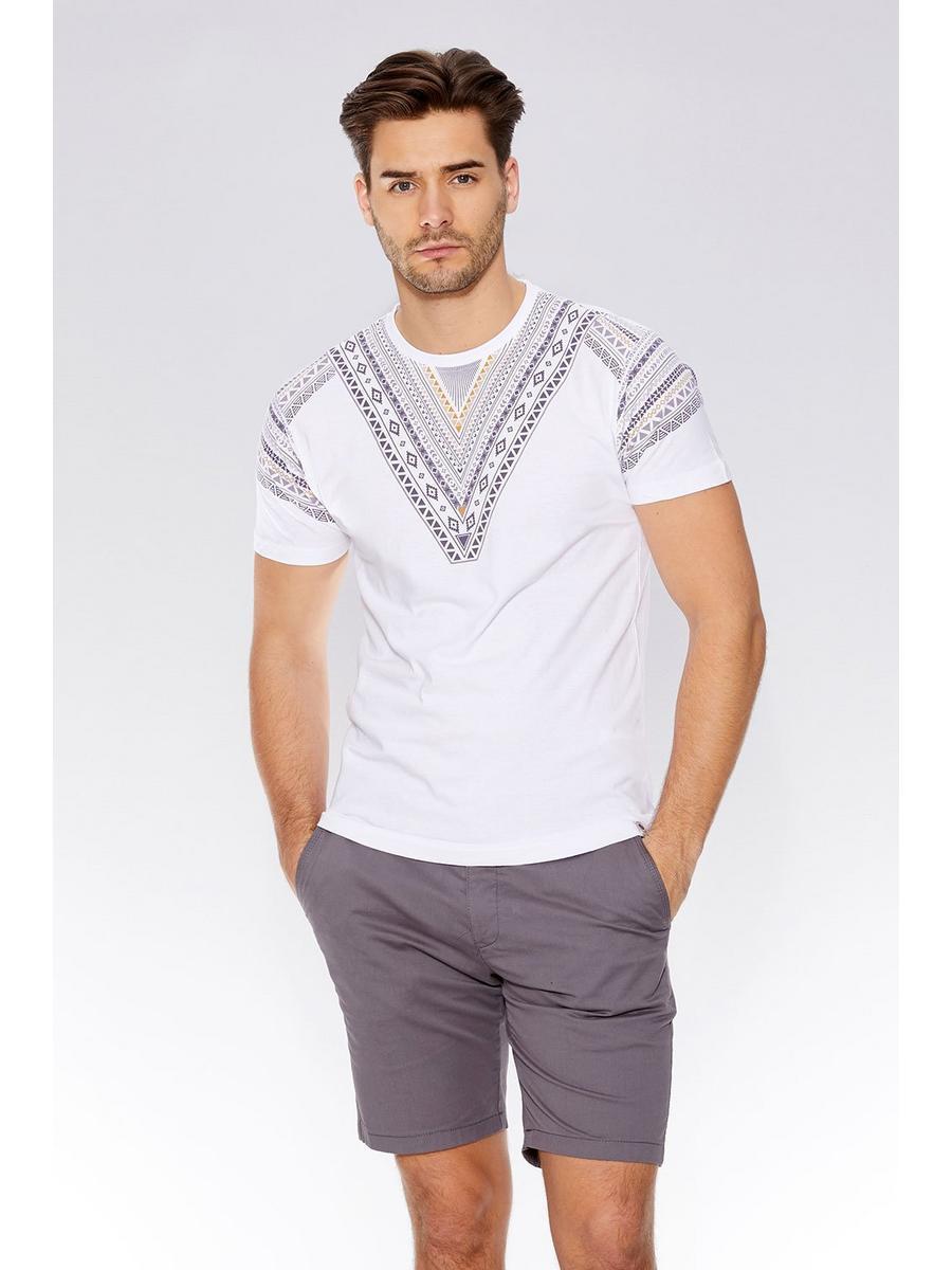 White Aztec Print T-Shirt
