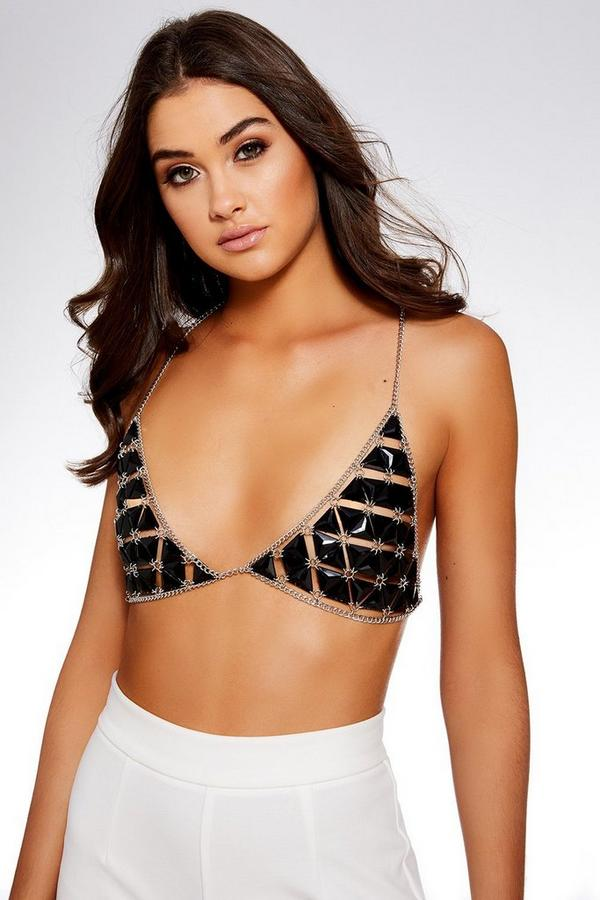Black Triangle Gem Bralet