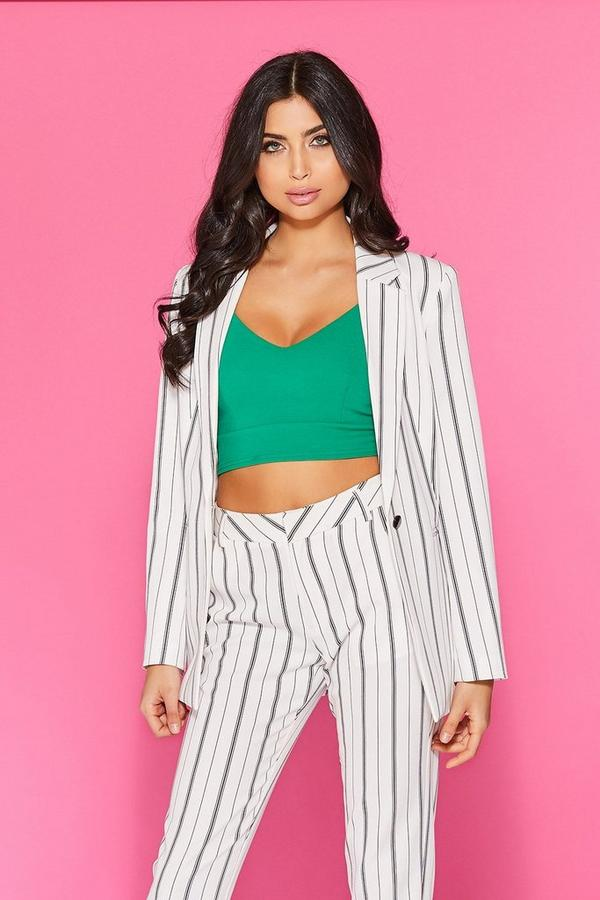 White Stripe Suit Jacket