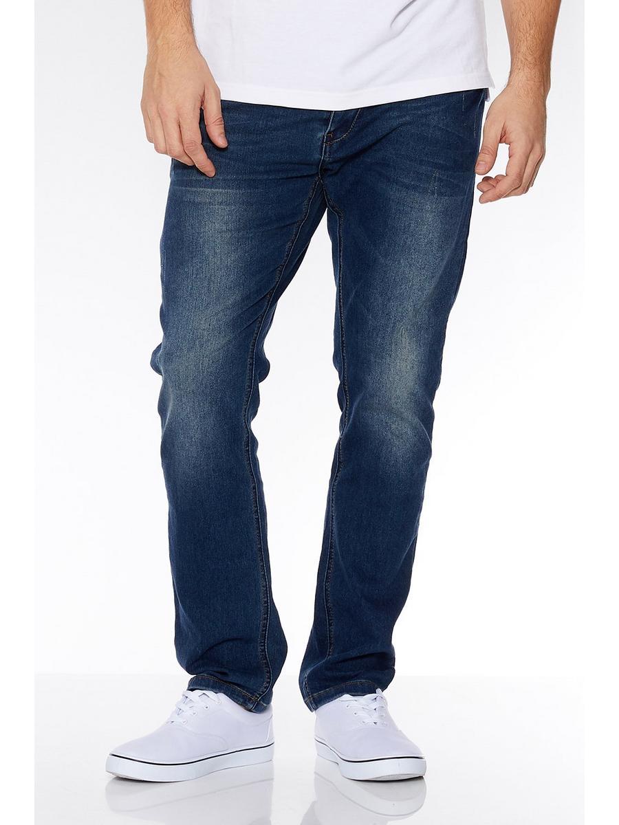 Blue Abrasion Slim Fit Jeans