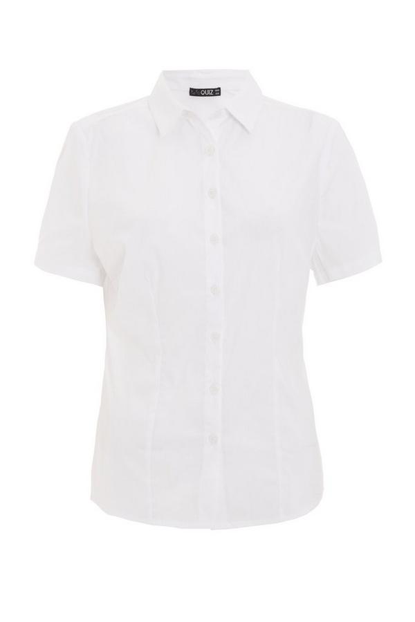 White Button Short Sleeve Shirt