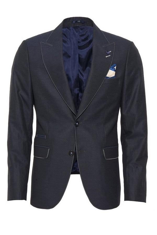 Navy Linen Blazer