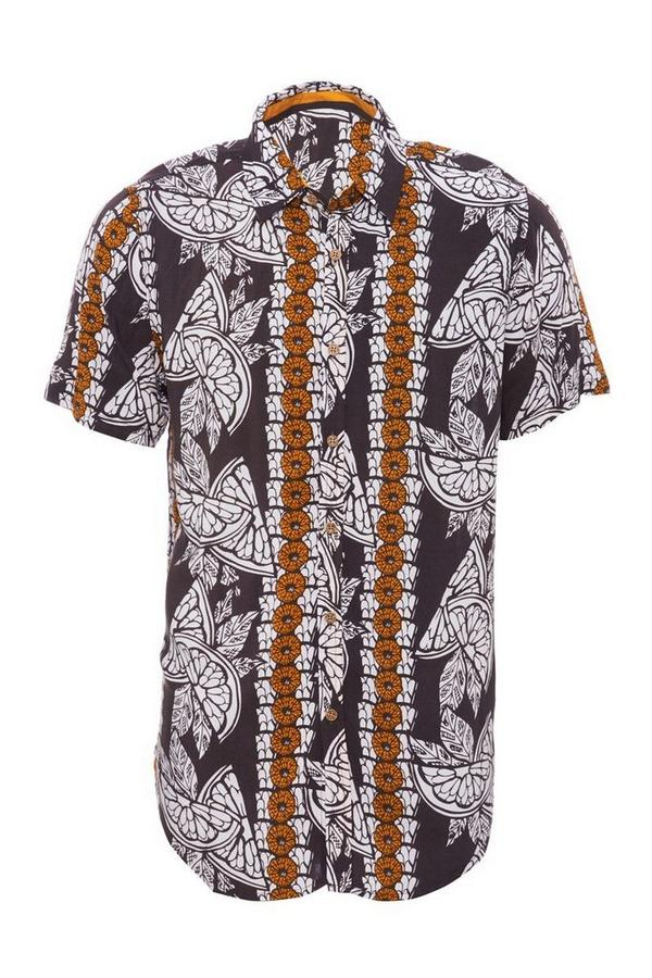 Black & Stone Tribal Print Short Sleeve Shirt