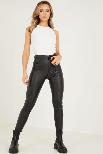 Black High Waist Skinny Jeans