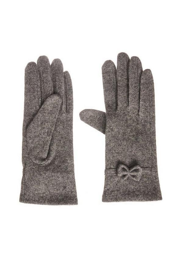 Grey Bow Gloves
