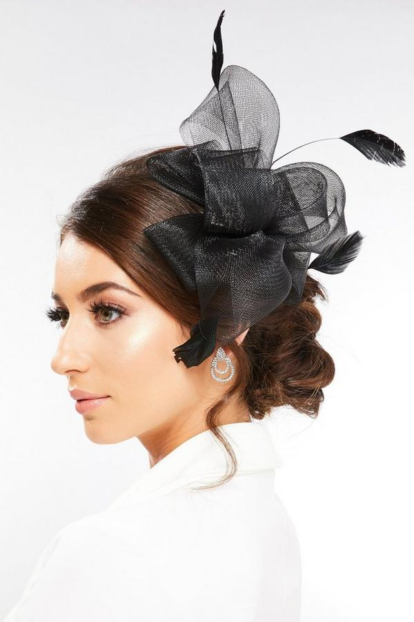 Black Twist Bow Fascinator