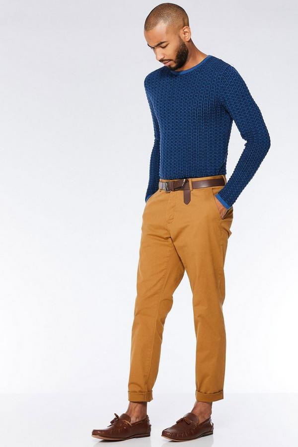 Camel Slim Fit Stretch Chinos