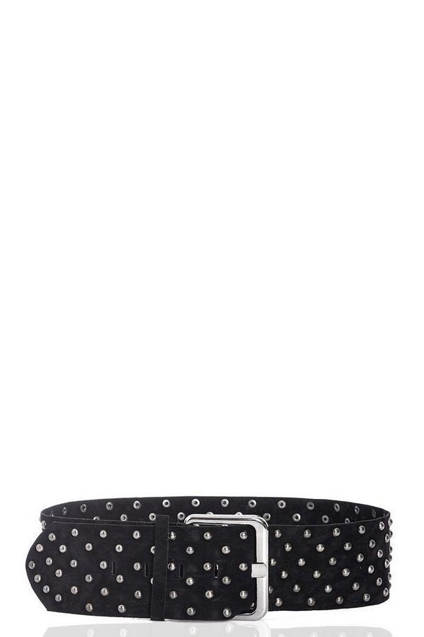 Black Stud Thick Belt