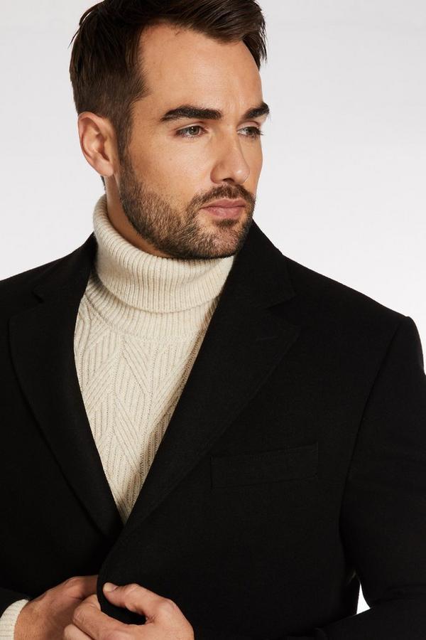 Black Plain Long Coat