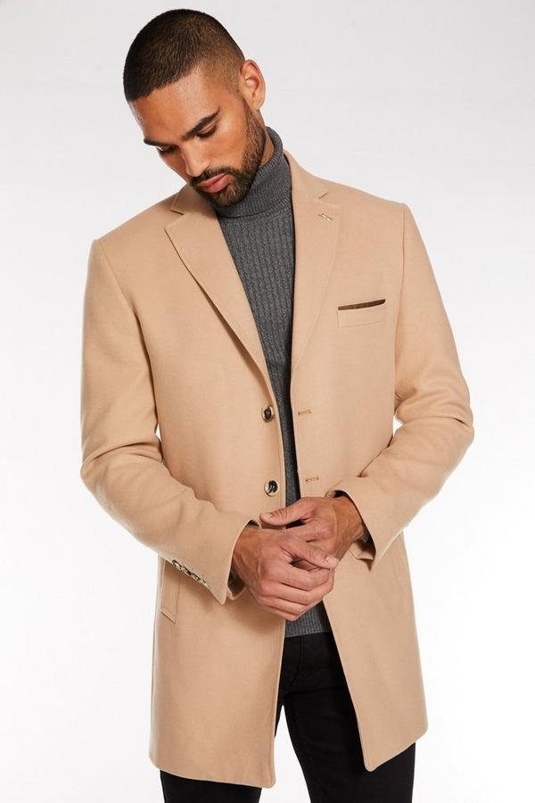 Camel Plain Long Coat