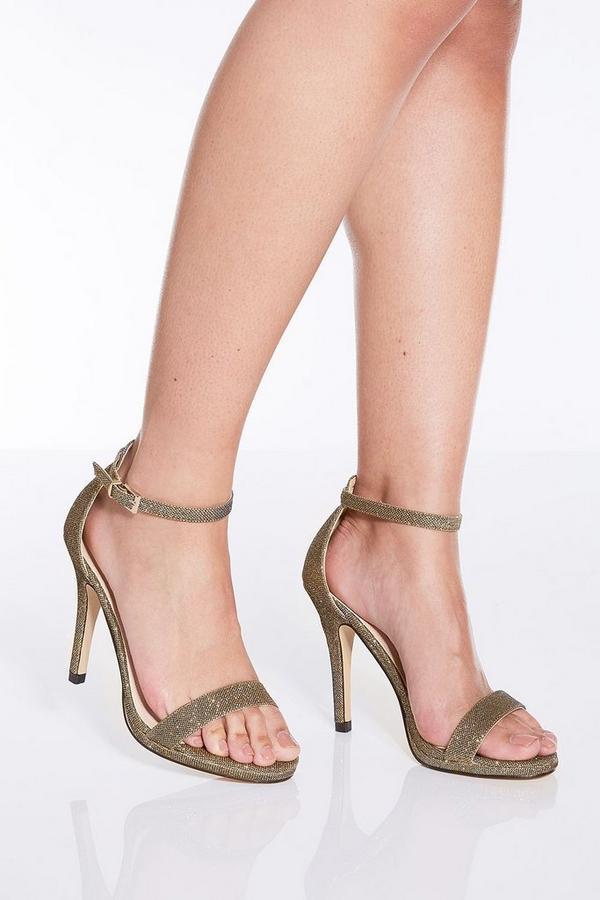 Bronze Shimmer Heeled Sandals