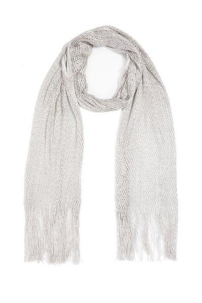 Silver Knit Scarf