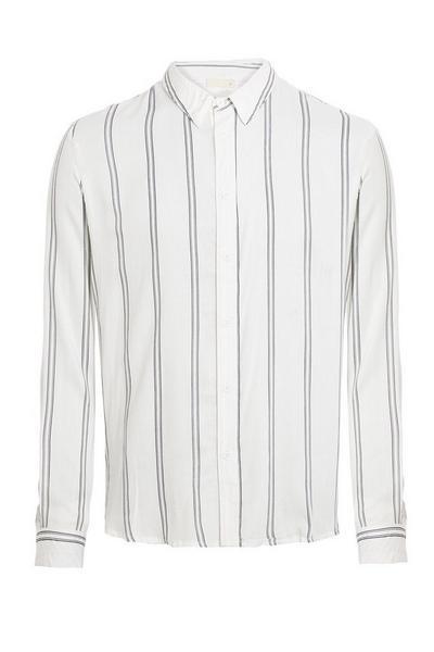 White/Black Striped Long Sleeve Shirt
