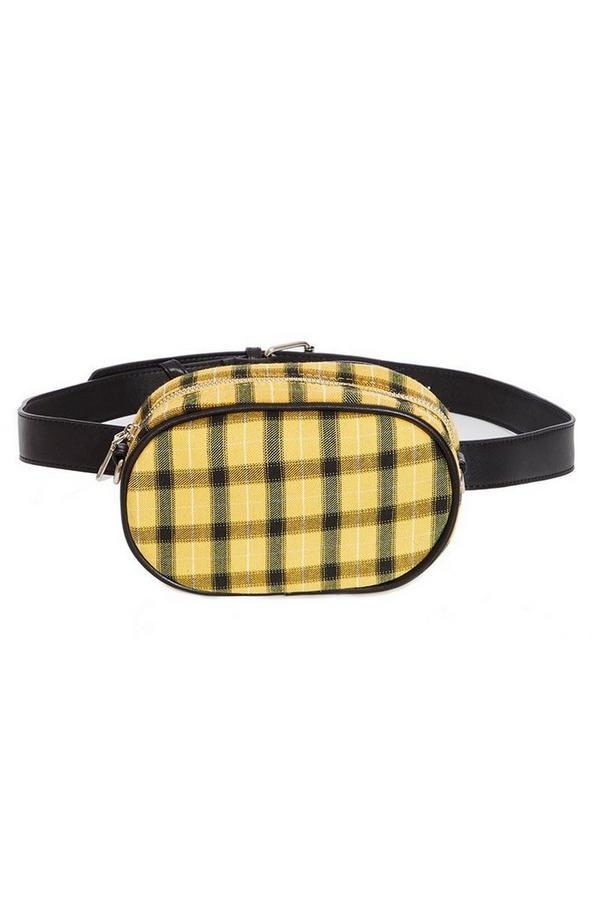 Yellow Check Bum Bag