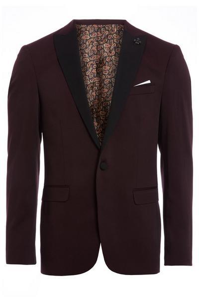 Burgundy Tux Jacket