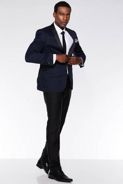 Black Plain Suit Trousers